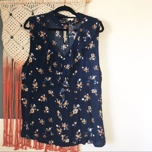 New Blu Pepper Floral Choker Blouse